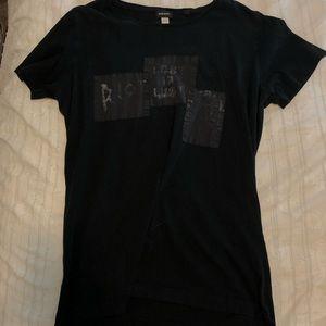 Black long tee shirt